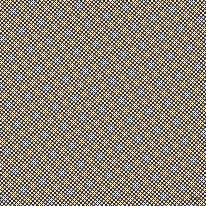 50/140 degree angle diagonal checkered chequered lines, 3 pixel lines width, 7 pixel square size, Black Russian and Egg Sour plaid checkered seamless tileable
