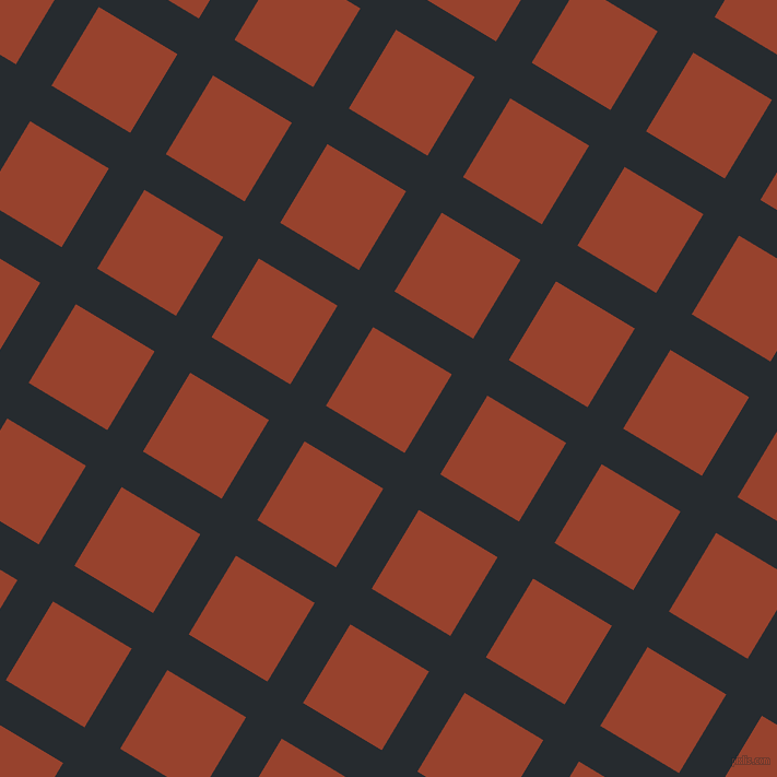 59/149 degree angle diagonal checkered chequered lines, 38 pixel lines width, 84 pixel square size, Blue Charcoal and Tia Maria plaid checkered seamless tileable