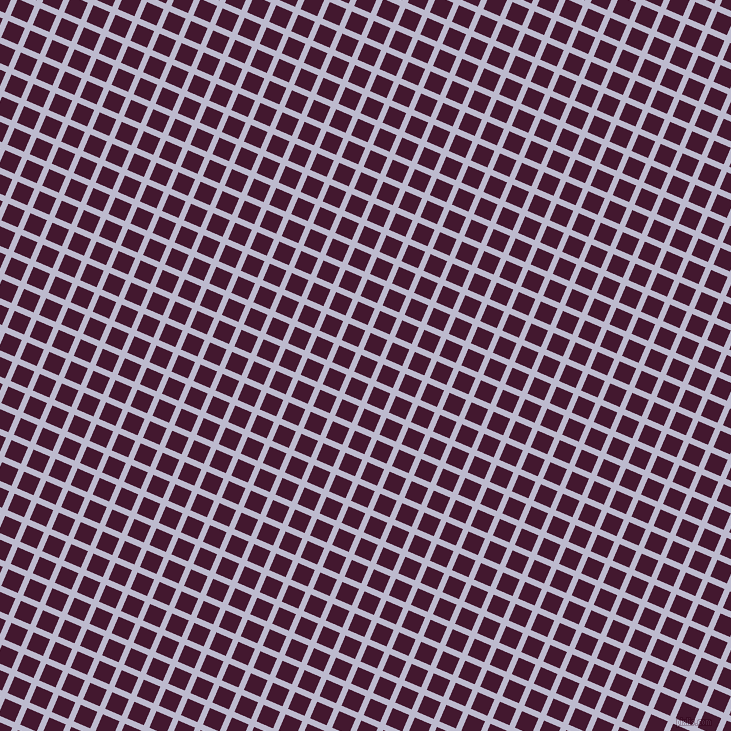 67/157 degree angle diagonal checkered chequered lines, 6 pixel line width, 18 pixel square size, Blue Haze and Blackberry plaid checkered seamless tileable