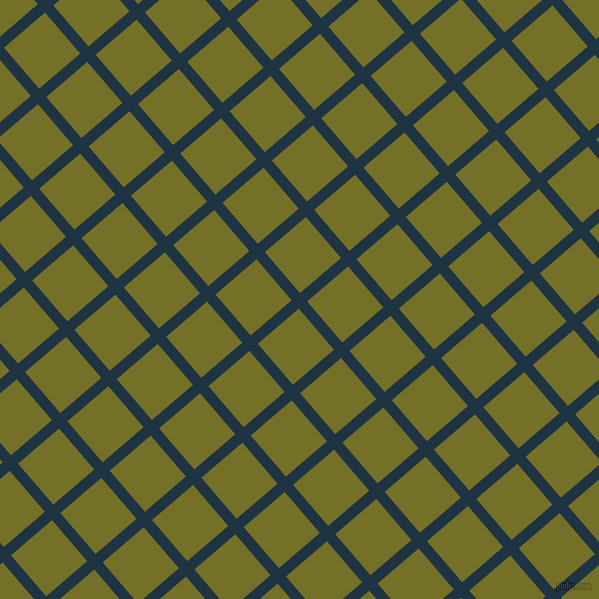 41/131 degree angle diagonal checkered chequered lines, 11 pixel lines width, 54 pixel square size, Blue Whale and Olivetone plaid checkered seamless tileable