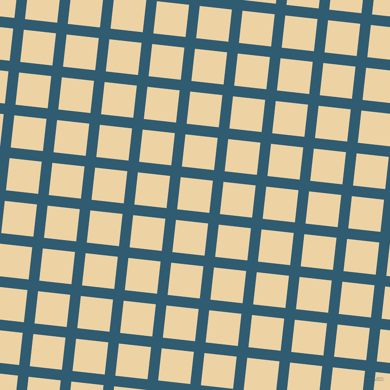 84/174 degree angle diagonal checkered chequered lines, 21 pixel line width, 64 pixel square size, Blumine and Dairy Cream plaid checkered seamless tileable