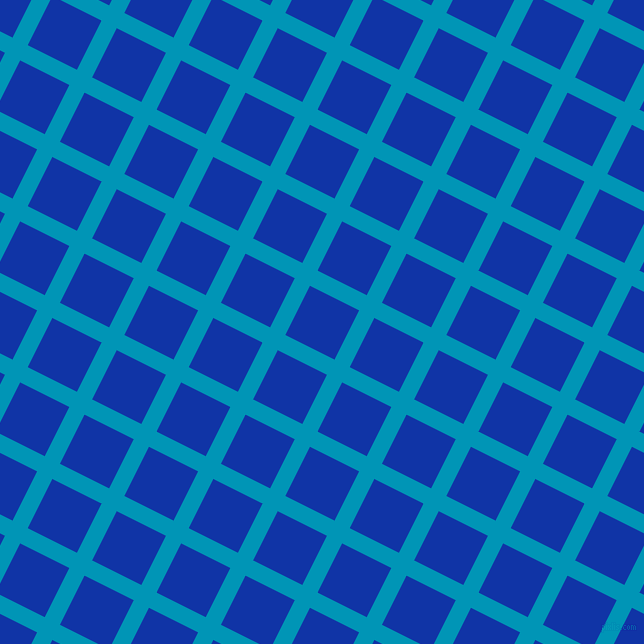 63/153 degree angle diagonal checkered chequered lines, 17 pixel line width, 55 pixel square size, Bondi Blue and Egyptian Blue plaid checkered seamless tileable