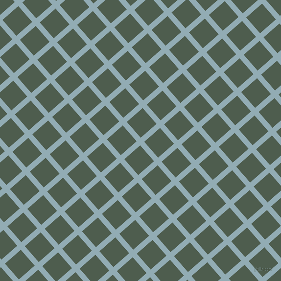 41/131 degree angle diagonal checkered chequered lines, 11 pixel line width, 43 pixel square size, Botticelli and Nandor plaid checkered seamless tileable