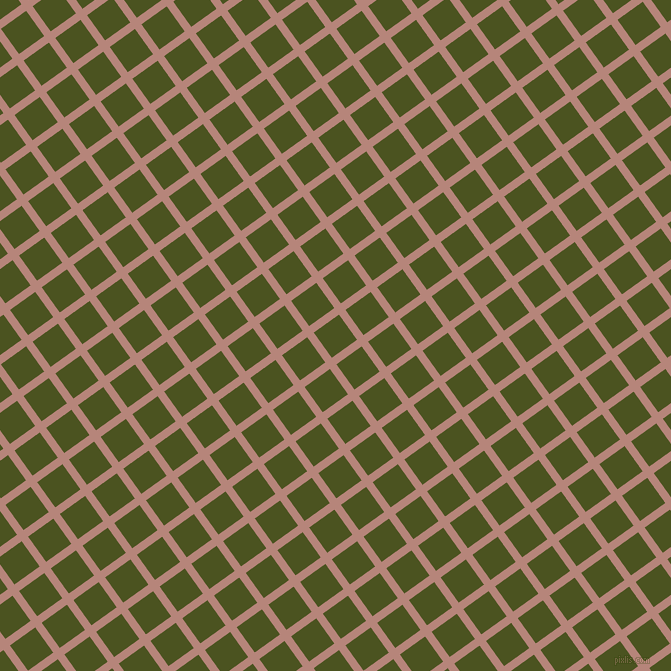 36/126 degree angle diagonal checkered chequered lines, 8 pixel lines width, 31 pixel square size, Brandy Rose and Army green plaid checkered seamless tileable