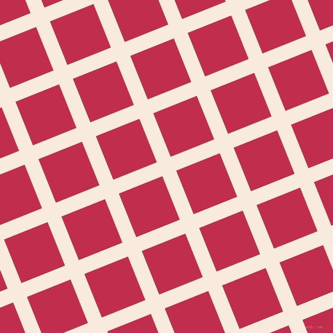 22/112 degree angle diagonal checkered chequered lines, 30 pixel line width, 94 pixel square size, Bridal Heath and Old Rose plaid checkered seamless tileable