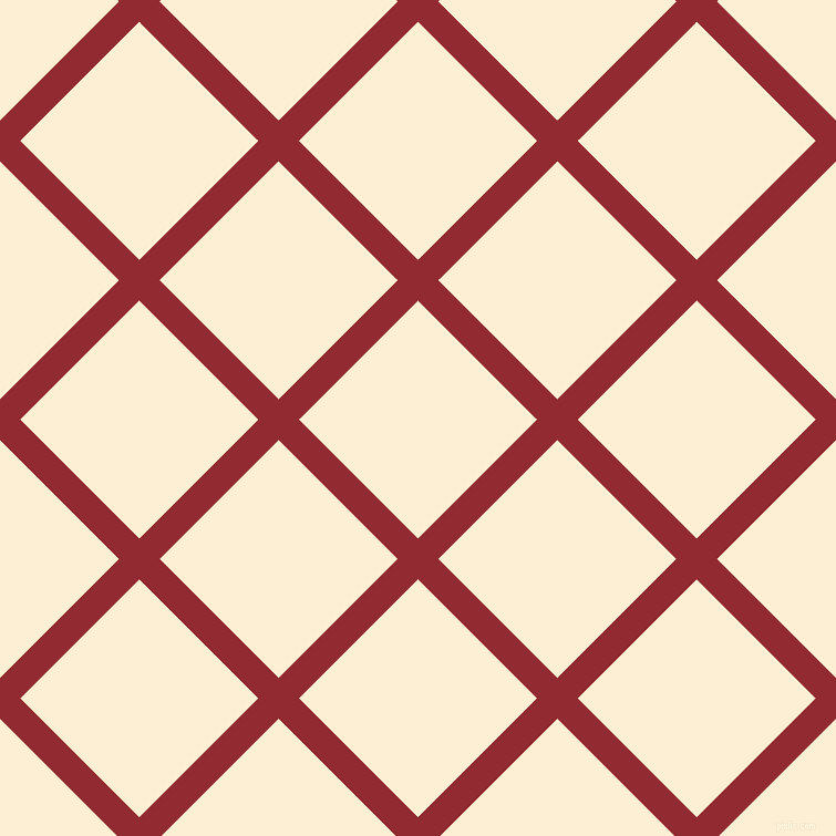 45/135 degree angle diagonal checkered chequered lines, 26 pixel lines width, 152 pixel square size, Bright Red and Varden plaid checkered seamless tileable