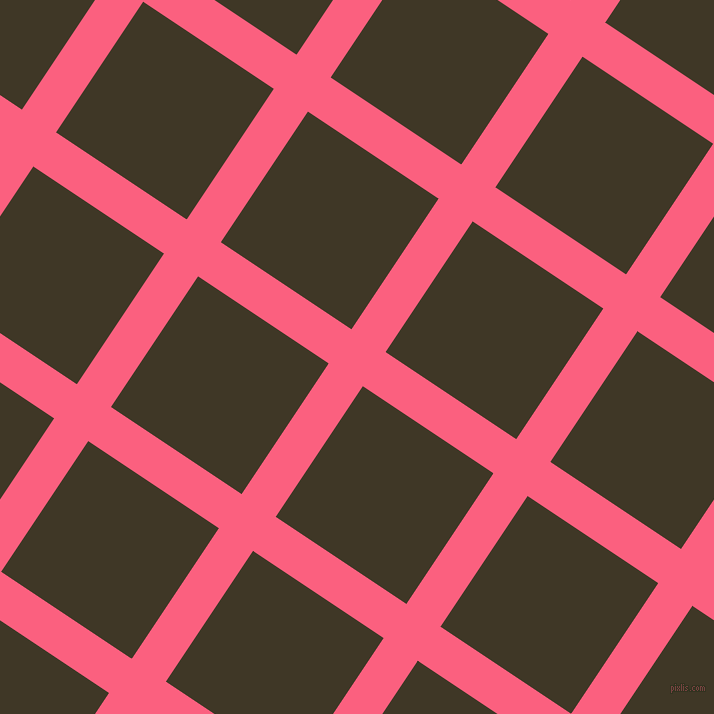 56/146 degree angle diagonal checkered chequered lines, 41 pixel lines width, 157 pixel square size, Brink Pink and Birch plaid checkered seamless tileable