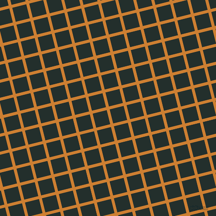 14/104 degree angle diagonal checkered chequered lines, 6 pixel line width, 29 pixel square size, Bronze and Racing Green plaid checkered seamless tileable
