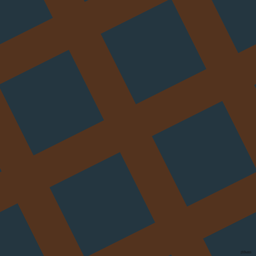 27/117 degree angle diagonal checkered chequered lines, 121 pixel lines width, 267 pixel square size, Brown Bramble and Elephant plaid checkered seamless tileable