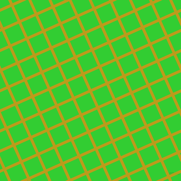 24/114 degree angle diagonal checkered chequered lines, 10 pixel line width, 54 pixel square size, Buddha Gold and Lime Green plaid checkered seamless tileable