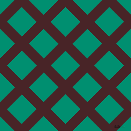 45/135 degree angle diagonal checkered chequered lines, 33 pixel line width, 70 pixel square size, Bulgarian Rose and Observatory plaid checkered seamless tileable