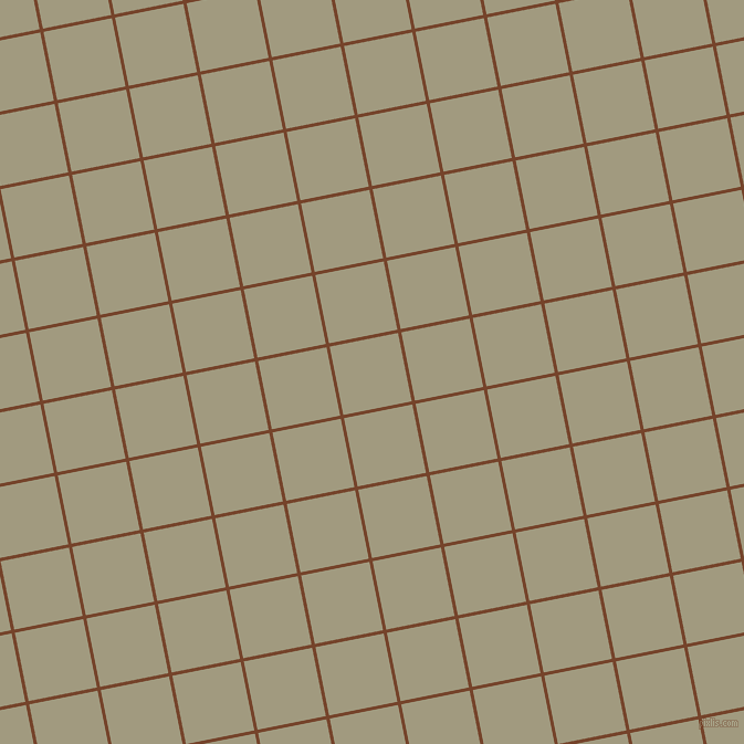 11/101 degree angle diagonal checkered chequered lines, 3 pixel lines width, 63 pixel square size, Bull Shot and Grey Olive plaid checkered seamless tileable