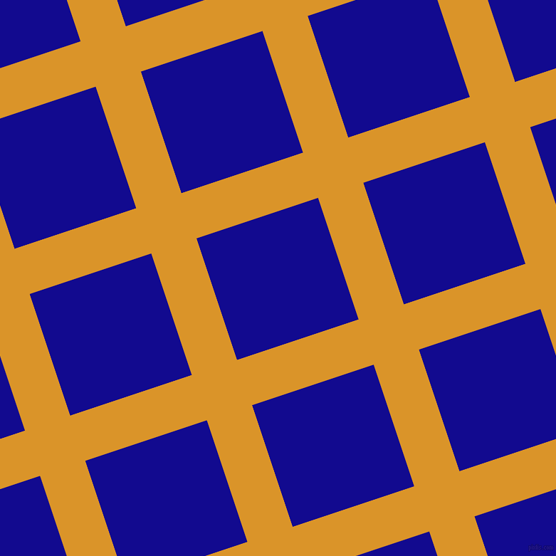 18/108 degree angle diagonal checkered chequered lines, 67 pixel line width, 180 pixel square size, Buttercup and Ultramarine plaid checkered seamless tileable