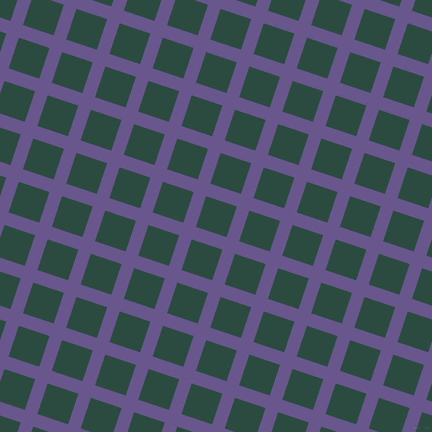 72/162 degree angle diagonal checkered chequered lines, 27 pixel line width, 66 pixel square size, Butterfly Bush and Te Papa Green plaid checkered seamless tileable