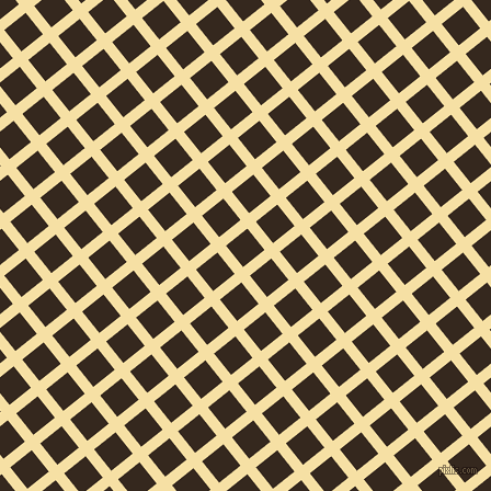 39/129 degree angle diagonal checkered chequered lines, 10 pixel line width, 25 pixel square size, Buttermilk and Cocoa Brown plaid checkered seamless tileable