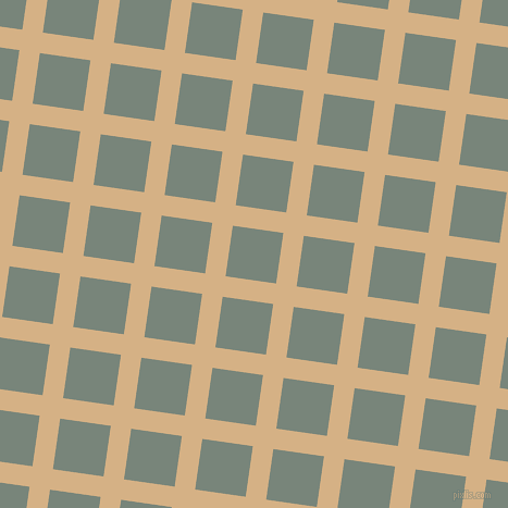 82/172 degree angle diagonal checkered chequered lines, 19 pixel line width, 47 pixel square size, Calico and Blue Smoke plaid checkered seamless tileable