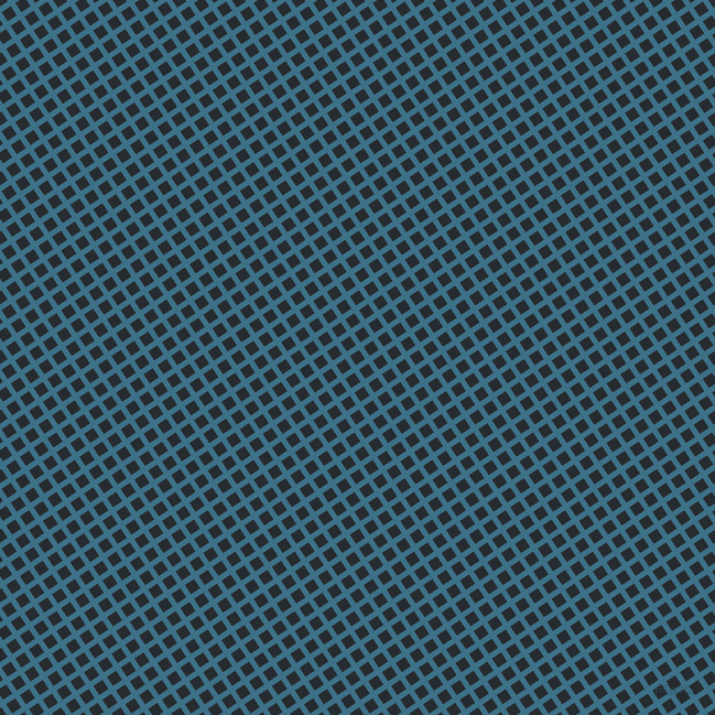 34/124 degree angle diagonal checkered chequered lines, 5 pixel line width, 10 pixel square size, Calypso and Blue Charcoal plaid checkered seamless tileable