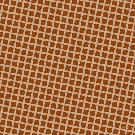79/169 degree angle diagonal checkered chequered lines, 6 pixel line width, 17 pixel square sizeCameo and Saddle Brown plaid checkered seamless tileable