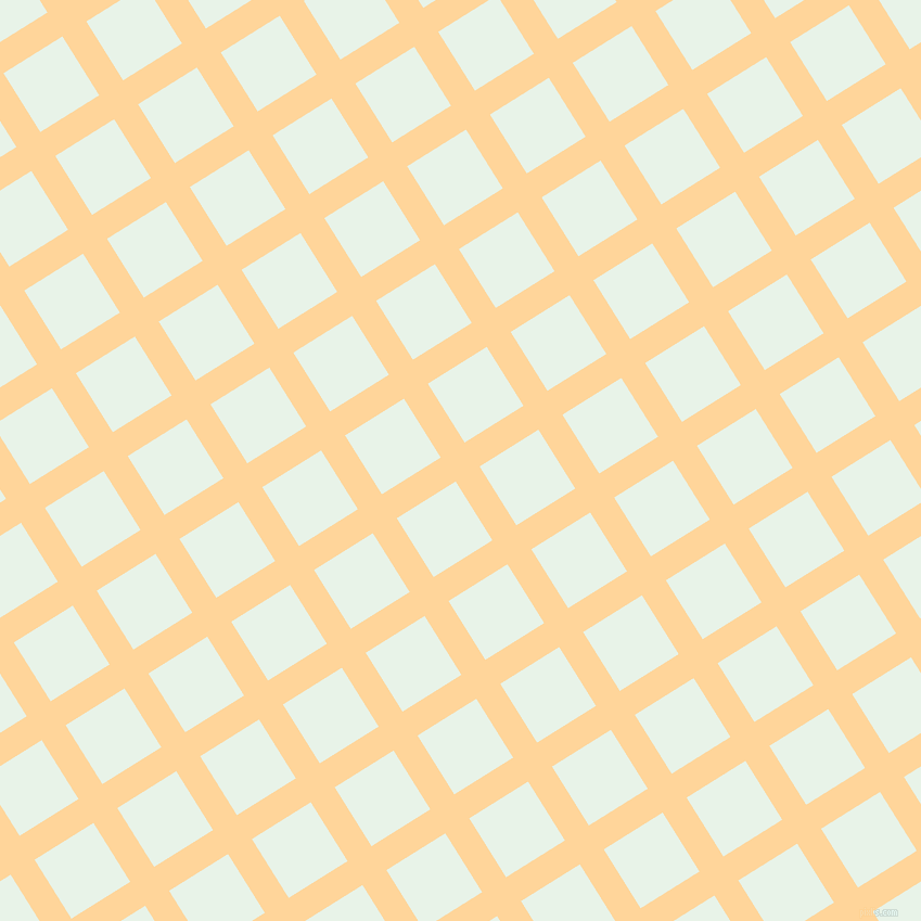 32/122 degree angle diagonal checkered chequered lines, 26 pixel lines width, 64 pixel square size, Caramel and Aqua Spring plaid checkered seamless tileable