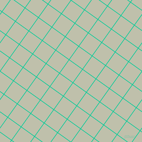 54/144 degree angle diagonal checkered chequered lines, 2 pixel line width, 51 pixel square size, Caribbean Green and Kidnapper plaid checkered seamless tileable