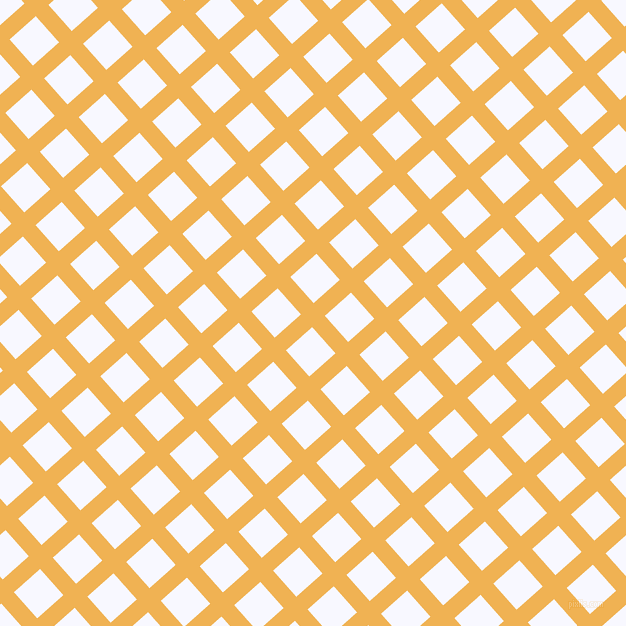 42/132 degree angle diagonal checkered chequered lines, 17 pixel line width, 35 pixel square size, Casablanca and Ghost White plaid checkered seamless tileable