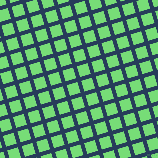 17/107 degree angle diagonal checkered chequered lines, 14 pixel line width, 39 pixel square size, Catalina Blue and Pastel Green plaid checkered seamless tileable