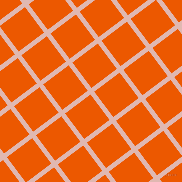 37/127 degree angle diagonal checkered chequered lines, 15 pixel lines width, 102 pixel square size, Cavern Pink and Persimmon plaid checkered seamless tileable