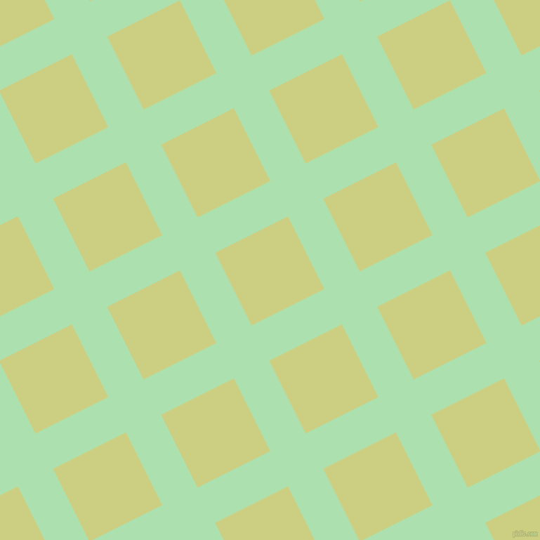 27/117 degree angle diagonal checkered chequered lines, 56 pixel lines width, 116 pixel square size, Celadon and Deco plaid checkered seamless tileable
