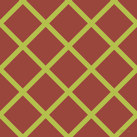 45/135 degree angle diagonal checkered chequered lines, 17 pixel line width, 95 pixel square size, Celery and Cognac plaid checkered seamless tileable
