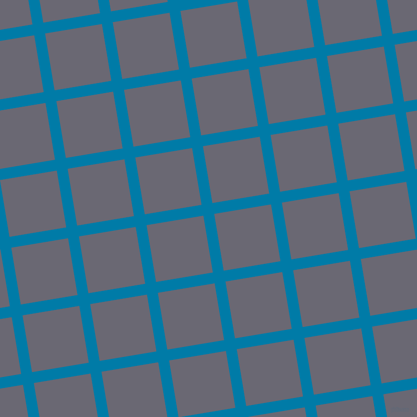 9/99 degree angle diagonal checkered chequered lines, 22 pixel lines width, 115 pixel square size, Cerulean and Dolphin plaid checkered seamless tileable