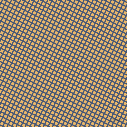 63/153 degree angle diagonal checkered chequered lines, 4 pixel line width, 9 pixel square size, Chambray and Harvest Gold plaid checkered seamless tileable