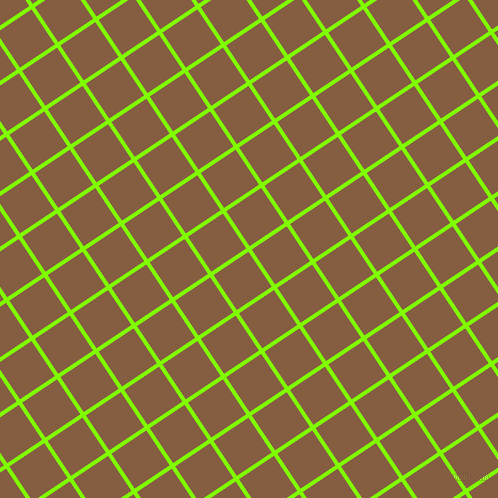 34/124 degree angle diagonal checkered chequered lines, 4 pixel lines width, 42 pixel square size, Chartreuse and Dark Wood plaid checkered seamless tileable