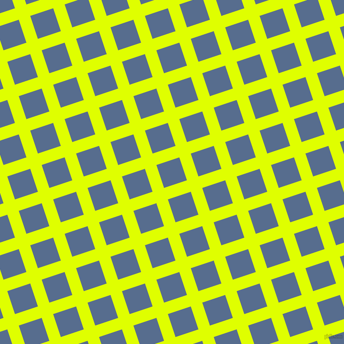 18/108 degree angle diagonal checkered chequered lines, 24 pixel line width, 48 pixel square size, Chartreuse Yellow and Kashmir Blue plaid checkered seamless tileable