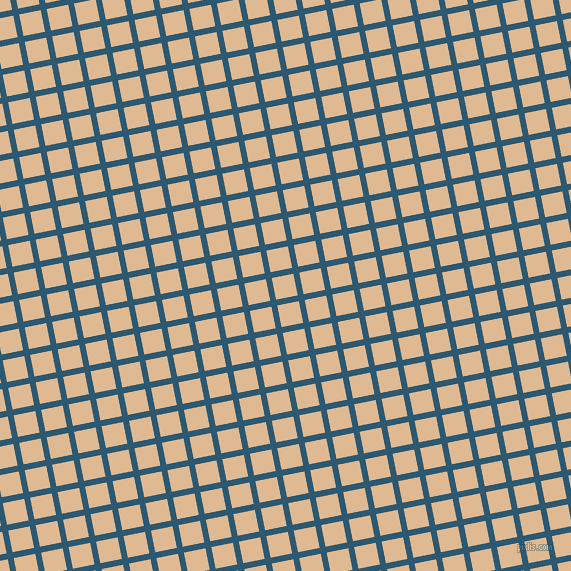 11/101 degree angle diagonal checkered chequered lines, 6 pixel lines width, 22 pixel square size, Chathams Blue and Pancho plaid checkered seamless tileable