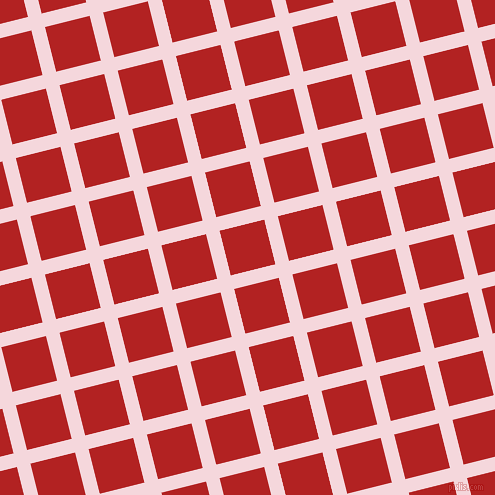 14/104 degree angle diagonal checkered chequered lines, 14 pixel line width, 46 pixel square size, Cherub and Fire Brick plaid checkered seamless tileable