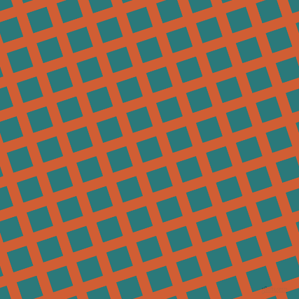 18/108 degree angle diagonal checkered chequered lines, 15 pixel line width, 30 pixel square size, Chilean Fire and Atoll plaid checkered seamless tileable