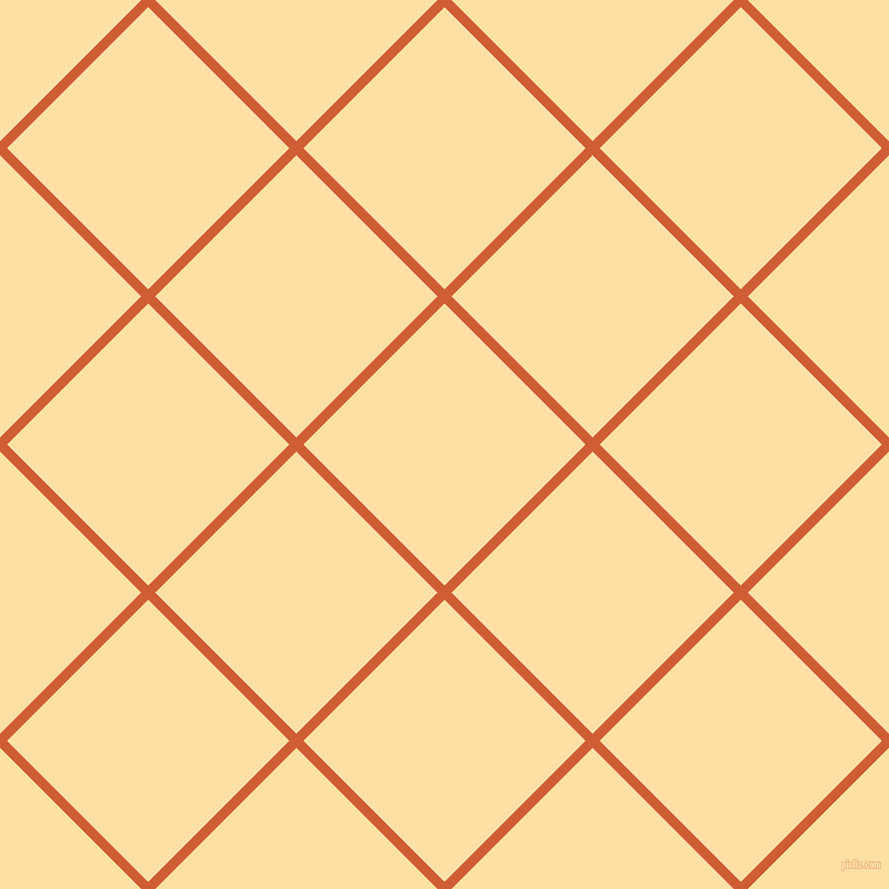 45/135 degree angle diagonal checkered chequered lines, 9 pixel line width, 180 pixel square size, Chilean Fire and Cape Honey plaid checkered seamless tileable
