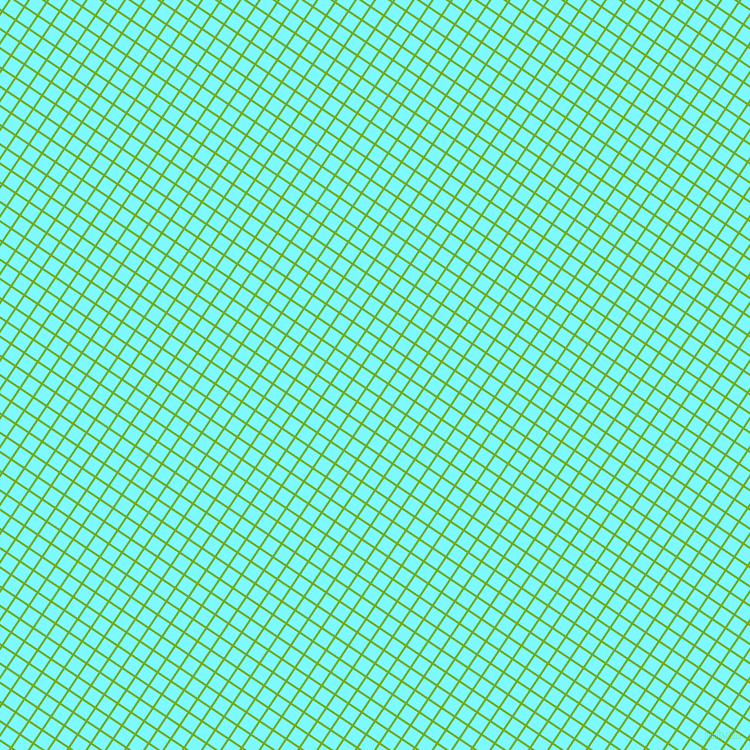 56/146 degree angle diagonal checkered chequered lines, 2 pixel line width, 14 pixel square size, Christi and Electric Blue plaid checkered seamless tileable