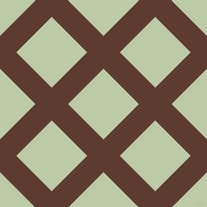 45/135 degree angle diagonal checkered chequered lines, 88 pixel line width, 191 pixel square size, Cioccolato and Pale Leaf plaid checkered seamless tileable