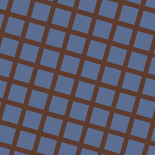 74/164 degree angle diagonal checkered chequered lines, 16 pixel line width, 55 pixel square size, Cioccolato and Waikawa Grey plaid checkered seamless tileable