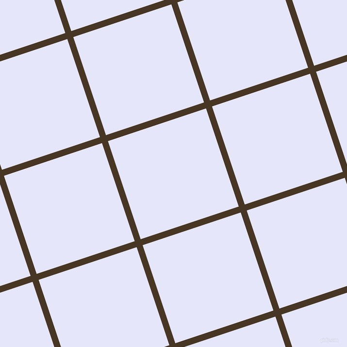 18/108 degree angle diagonal checkered chequered lines, 13 pixel line width, 213 pixel square size, Clinker and Lavender plaid checkered seamless tileable
