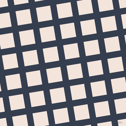 9/99 degree angle diagonal checkered chequered lines, 24 pixel line width, 55 pixel square size, Cloud Burst and Fair Pink plaid checkered seamless tileable