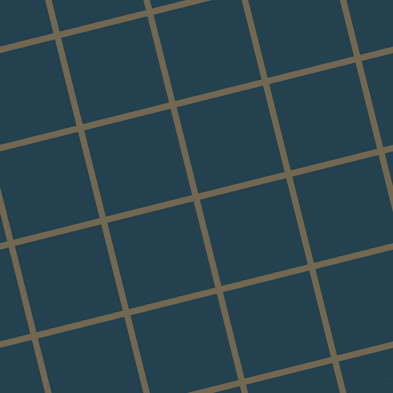 14/104 degree angle diagonal checkered chequered lines, 13 pixel lines width, 183 pixel square size, Coffee and Green Vogue plaid checkered seamless tileable