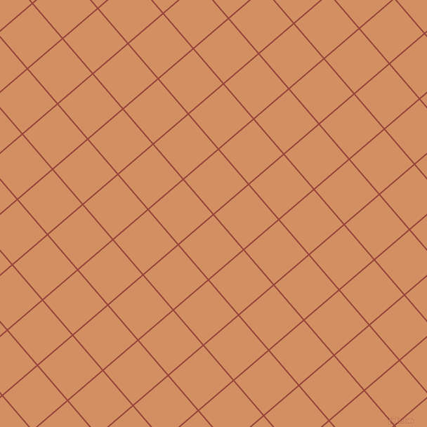 41/131 degree angle diagonal checkered chequered lines, 2 pixel line width, 64 pixel square size, Cognac and Whiskey plaid checkered seamless tileable