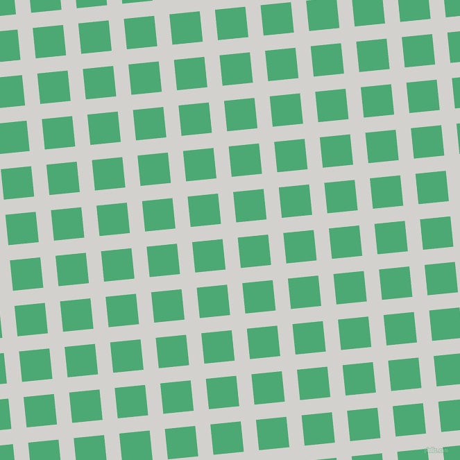 6/96 degree angle diagonal checkered chequered lines, 22 pixel line width, 44 pixel square size, Concrete and Ocean Green plaid checkered seamless tileable