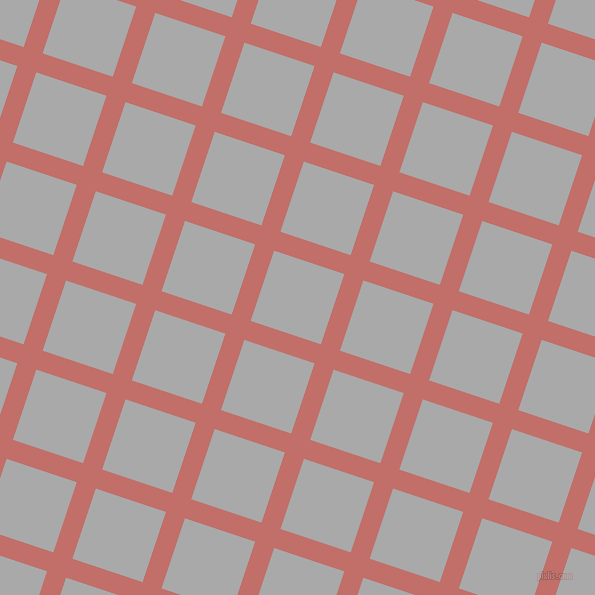 72/162 degree angle diagonal checkered chequered lines, 20 pixel line width, 74 pixel square size, Contessa and Dark Gray plaid checkered seamless tileable