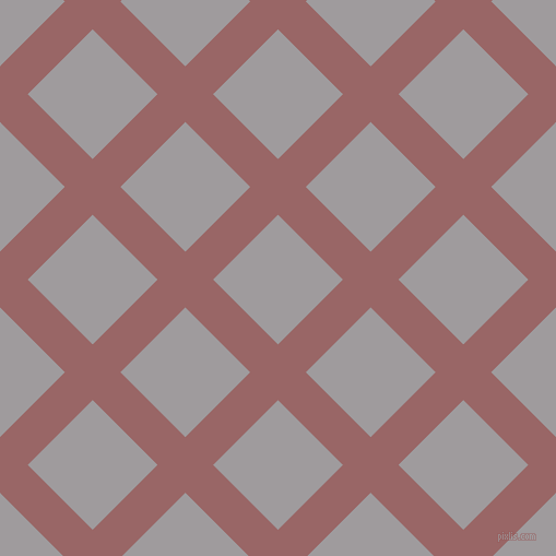 45/135 degree angle diagonal checkered chequered lines, 36 pixel lines width, 84 pixel square size, Copper Rose and Shady Lady plaid checkered seamless tileable