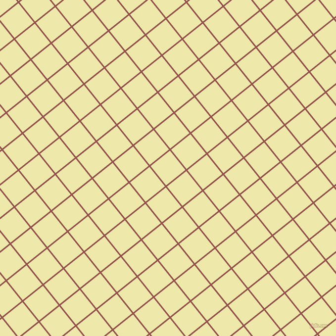 39/129 degree angle diagonal checkered chequered lines, 3 pixel lines width, 50 pixel square size, Copper Rust and Pale Goldenrod plaid checkered seamless tileable