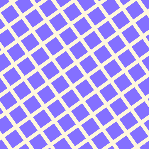 36/126 degree angle diagonal checkered chequered lines, 13 pixel line width, 46 pixel square size, Corn Silk and Light Slate Blue plaid checkered seamless tileable