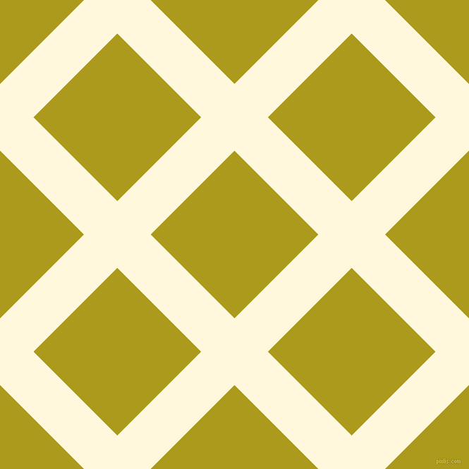 45/135 degree angle diagonal checkered chequered lines, 67 pixel line width, 168 pixel square size, Corn Silk and Lucky plaid checkered seamless tileable